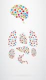 Εσωτερικά ανθρώπινα εικονίδια οργάνων Στοκ φωτογραφίες με δικαίωμα ελεύθερης χρήσης