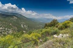 Εσωτερικά βουνά Cephalonia Kefelonia, Ελλάδα Στοκ εικόνες με δικαίωμα ελεύθερης χρήσης