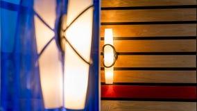 Εσωτερικά ελαφριά κοu'φώματα τοίχων Στοκ Φωτογραφία