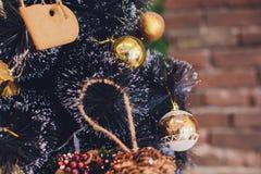 Εσωτερικά θερμά χρώματα Χριστουγέννων στούντιο Στοκ Φωτογραφία