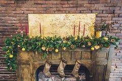Εσωτερικά θερμά χρώματα Χριστουγέννων στούντιο Στοκ φωτογραφία με δικαίωμα ελεύθερης χρήσης