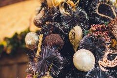Εσωτερικά θερμά χρώματα Χριστουγέννων στούντιο Στοκ Εικόνα