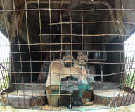 Εσωτερικά παλαιό howitzer Στοκ Φωτογραφία