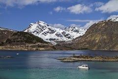 Εσωτερικά φιορδ σε Lofoten Στοκ Φωτογραφίες