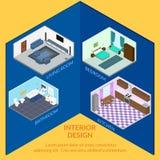 Εσωτερικά δωμάτια σχεδίου Στοκ Φωτογραφία