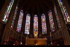 Εσωτερικές λεπτομέρειες του καθεδρικού ναού της Notre Dame στο μεγάλο δουκάτο Luxem Στοκ φωτογραφία με δικαίωμα ελεύθερης χρήσης