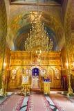Εσωτερικές λεπτομέρειες της παλαιάς εκκλησίας στο μοναστήρι Sinaia, Ρουμανία στοκ εικόνες