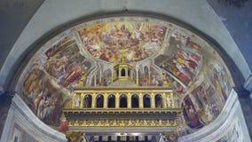 Εσωτερική άποψη Άγιος Peter στην εκκλησία αλυσίδων απόθεμα βίντεο