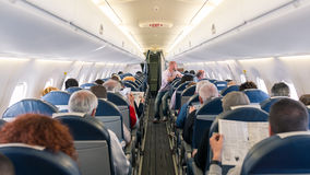 Εσωτερική άποψη αεροπλάνων Air France αεριωθούμενη Στοκ Εικόνα