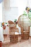 Εσωτερική άποψη ενός αραβικού δωματίου με τα παραδοσιακά έπιπλα, τάπητας, Μαρακές, Μαρόκο, Βόρεια Αφρική Στοκ Εικόνες