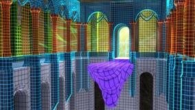 Εσωτερική άποψη ενός εικονικού ναού φαντασίας στοκ φωτογραφίες με δικαίωμα ελεύθερης χρήσης