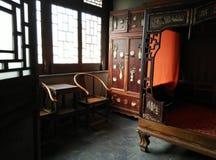 Εσωτερική άποψη ενός κινεζικού παραδοσιακού σπιτιού Στοκ Εικόνες
