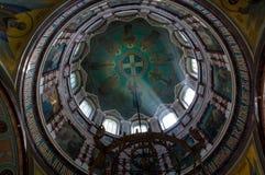 Εσωτερική άποψη στον αποκεφαλισμό του ST John ο βαπτιστικός καθεδρικός ναός στο Κρεμλίνο Zaraysk, περιοχή της Μόσχας, της Ρωσίας Στοκ Φωτογραφίες