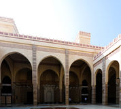 Εσωτερική άποψη στο μουσουλμανικό τέμενος Al Fateh, Manama, Μπαχρέιν Στοκ Εικόνα
