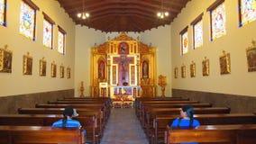 Εσωτερική άποψη της εκκλησίας στο Ciudad Mitad del Mundo turistic κέντρο πλησίον της πόλης του Κουίτο Στοκ Φωτογραφίες