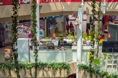 Εσωτερική άποψη της λεωφόρου Μάλαγα Plaza αγορών από την πόλη της Μάλαγας Στοκ Εικόνα