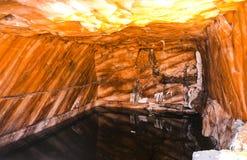 Εσωτερική άποψη του αλατισμένου ορυχείου Khewra στοκ εικόνα με δικαίωμα ελεύθερης χρήσης