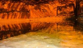 Εσωτερική άποψη του αλατισμένου ορυχείου Khewra στοκ φωτογραφία με δικαίωμα ελεύθερης χρήσης