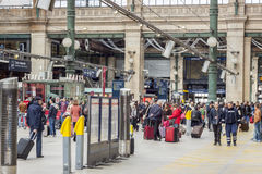 Εσωτερική άποψη του βόρειου σταθμού του Παρισιού, (Gare du Nord) Στοκ Εικόνες