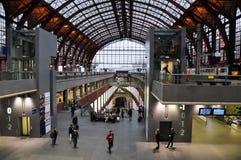 Εσωτερική άποψη του κεντρικού σταθμού της Αμβέρσας, Βέλγιο Στοκ Εικόνες