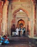 Εσωτερική άποψη του μουσουλμανικού τεμένους Fatehpur Sikri στοκ φωτογραφίες