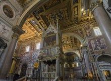 Εσωτερική άποψη Archbasilica του ST John Lateran στη Ρώμη Είναι Στοκ εικόνα με δικαίωμα ελεύθερης χρήσης