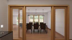 Εσωτερική αίθουσα σε ένα αγγλικό εξοχικό σπίτι φιλμ μικρού μήκους