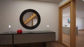 Εσωτερική αίθουσα σε ένα αγγλικό εξοχικό σπίτι απόθεμα βίντεο