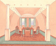 Εσωτερική αίθουσα συνδιαλέξεων διανυσματική απεικόνιση