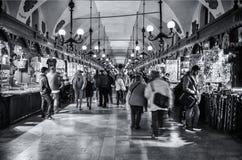 Εσωτερική αγορά Κρακοβία Στοκ Εικόνα