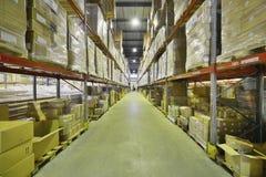 Εσωτερική αποθήκη εμπορευμάτων Στοκ φωτογραφία με δικαίωμα ελεύθερης χρήσης