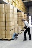 εσωτερική αποθήκη εμπορ& Στοκ Εικόνες