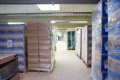 εσωτερική αποθήκη εμπορ& Στοκ Εικόνα