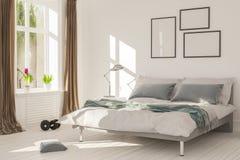 Εσωτερική απόδοση του δωματίου κρεβατιών Στοκ εικόνα με δικαίωμα ελεύθερης χρήσης