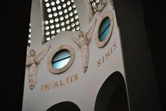 Εσωτερική αρχιτεκτονική της εκκλησίας τομέων ποιμένων, παρεκκλησι, στη Βηθλεέμ, Παλαιστίνη, Ισραήλ στοκ εικόνες