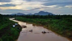εσωτερική αλιεία στην Ταϊλάνδη Στοκ εικόνα με δικαίωμα ελεύθερης χρήσης