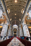 Εσωτερική βασιλική Αγίου Peter Στοκ Φωτογραφία