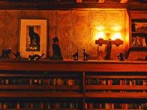 Εσωτερική βιβλιοθήκη του Gillette Castle στοκ εικόνες με δικαίωμα ελεύθερης χρήσης