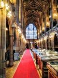Εσωτερική βιβλιοθήκη του John Ryland Στοκ Φωτογραφία