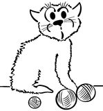 Εσωτερική γάτα Στοκ Εικόνα