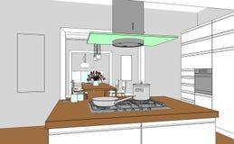 Εσωτερική διαβάθμιση σχεδίων καθιστικών σχεδίου στη φωτογραφία Στοκ εικόνα με δικαίωμα ελεύθερης χρήσης