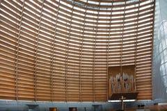Εσωτερική λεπτομέρεια του καθεδρικού ναού του Όουκλαντ Χριστού το φως Στοκ φωτογραφία με δικαίωμα ελεύθερης χρήσης