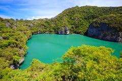 Εσωτερική θάλασσα, εθνικό θαλάσσιο πάρκο Angthong, Ταϊλάνδη Στοκ Φωτογραφίες