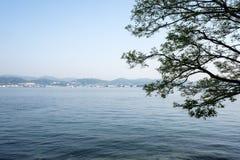 Εσωτερική θάλασσα Seto σε Ninoshima, κοντά στη Χιροσίμα, Ιαπωνία Στοκ Φωτογραφίες