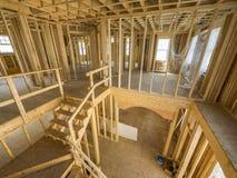 Εσωτερική κατασκευή καινούργιων σπιτιών Στοκ Εικόνες