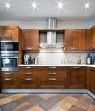 εσωτερική κουζίνα νέα Στοκ Φωτογραφία