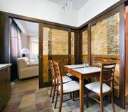 εσωτερική κουζίνα νέα Στοκ Εικόνα