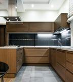 εσωτερική κουζίνα σύγχρονη Στοκ Εικόνες