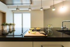 εσωτερική κουζίνα σύγχρονη Στοκ Φωτογραφίες