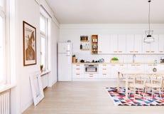 εσωτερική κουζίνα σύγχρ&omi Στοκ εικόνες με δικαίωμα ελεύθερης χρήσης